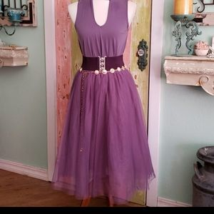 Tulle skirt 5 layers grape dusty lavender